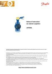 Notice d instruction du robinet à papillon APORIA - SOCLA