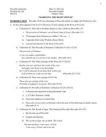 Long sermon outline - Christ Covenant Church