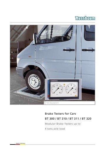 Brake Testers for Cars BT 300 / BT 310 / BT 311 / BT 320 - Aftersales ...