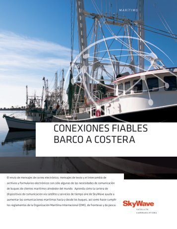 ConexioneS fiableS barCo a CoStera - SkyWave Mobile ...