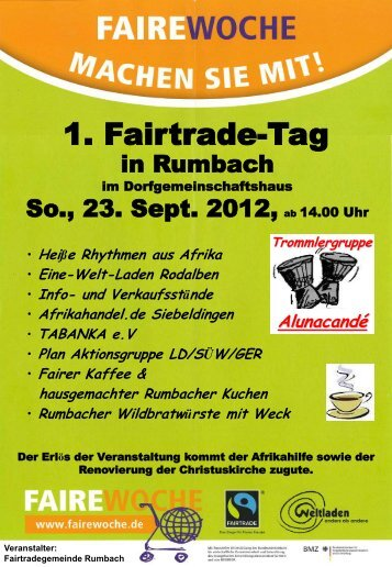 1. Fairtrade-Tag - Rumbach