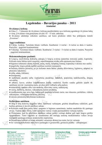 Legolendas – Bavarijos pasaka – 2011 - Excursus