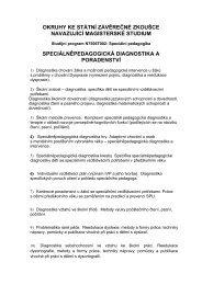 SPPG diagnostika a poradenství - Univerzita Karlova
