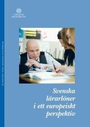 Svenska lärarlöner i ett europeiskt perspektiv - Lärarnas Riksförbund