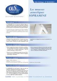 Fiche technique Sopramine PDF - dBstop