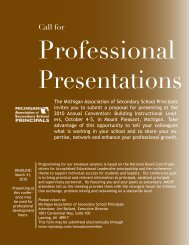 Download the Call for Professional Presentations - Michigan ...