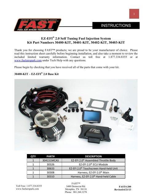 EZ 2 0 Instructions 1 pdf - FAST Man EFI Home Page