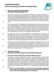 Gersthofer Erklärung - Junge Union Kreisverband Landshut