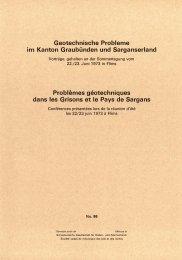Geotechnische Problema im Kanton Graubünden und ...