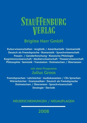 Brigitte Narr GmbH - Stauffenburg Verlag