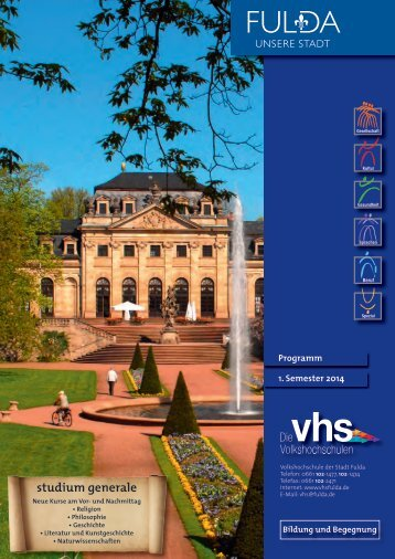 vhs - Programmheft der Stadt Fulda - 1. Semester 2014