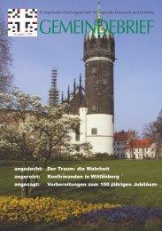 GEMEINDEBRIEF - Evangelische Christusgemeinde Wernigerode ...