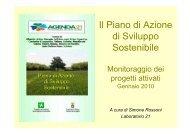 Monitoraggio delle buone pratiche - Agenda 21 Est Ticino