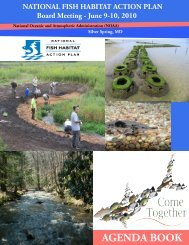June_9-10, 2010.pdf - National Fish Habitat Partnership