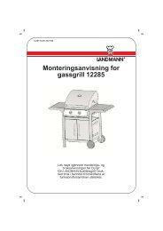Monteringsanvisning for gassgrill 12285 - Landmann Norge AS