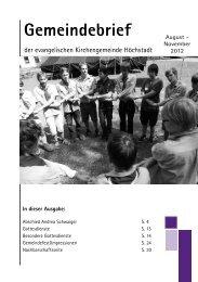 Gemeindebrief - Präsentation der evangelischen Kirchengemeinde ...