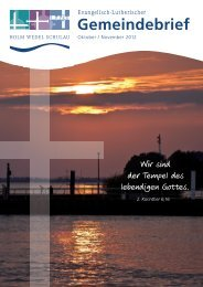 Gemeindebrief - Ev.-Lutherische Kirchengemeinde Wedel