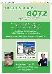 77704 Oberkirch Ihr BDB-Auktionshaus Götz