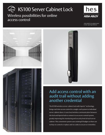 KS100 Server Cabinet Lock - Access Control Solutions from ASSA ...