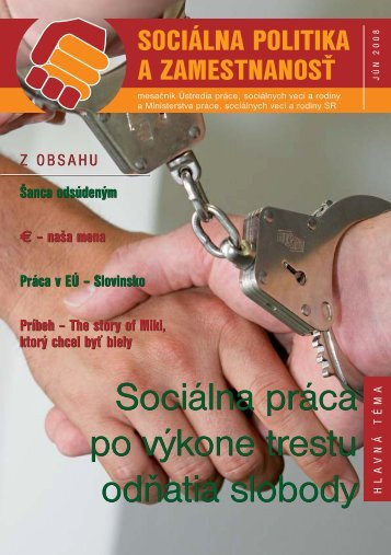 Jún 2008 - Ústredie práce, sociálnych vecí a rodiny