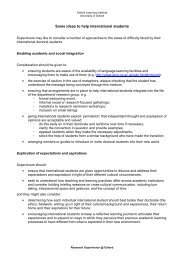 Some ideas to help international students - Oxford Learning Institute ...