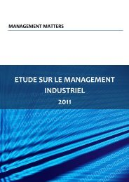 ETUDE SUR LE MANAGEMENT INDUSTRIEL 2011 - World ...