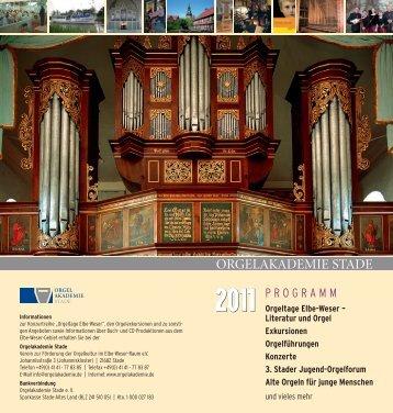 komplettes Programmheft 2011 - Orgelakademie Stade