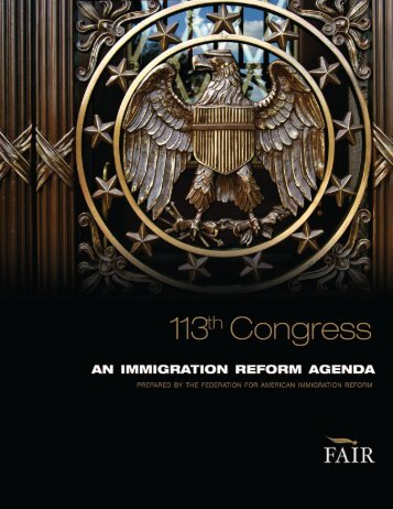 download a PDF of the report. - Federation for American Immigration ...