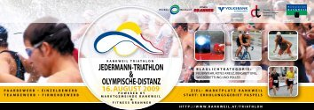 JEDERMANN-TRIATHLON & OLYMPISCHE-DISTANZ