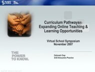 PowerPoint - Virtual School Symposium 2007