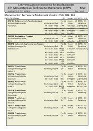 401 Masterstudium Technische Mathematik (03W) 12W - aau.at