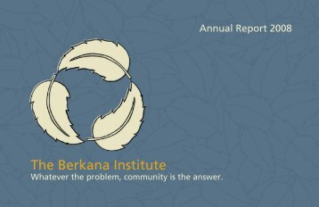 a Culture of Gifting - The Berkana Institute