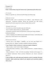 Ćwiczenie U.9.1 Tytuł ćwiczenia: Pomiar ładunku elektrycznego kuli ...