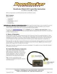 BoonDocker Polaris EFI Control Box Instructions