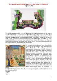 il giardino medievale del castello di torino - Clamer Informa