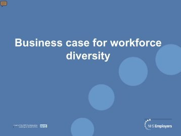 Business case for workforce diversity - NHS Employers