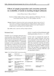 Effects of sample preparation and extraction protocols on ... - RMZ
