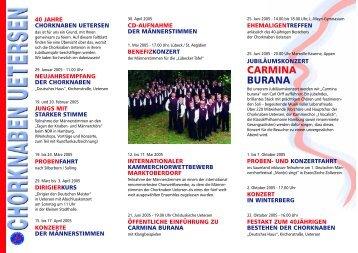 CARMINA BURANA - Chorknaben Uetersen