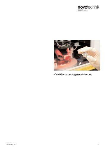 Qualitätssicherungsvereinbarung - Novotechnik