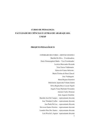 Projeto Político Pedagógico do Curso de Pedagogia - Unesp