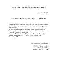 Assegnazione Studenti ai progetti formativi - Medicina e Chirurgia