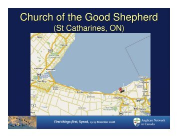Church of the Good Shepherd - Anglican Network in Canada