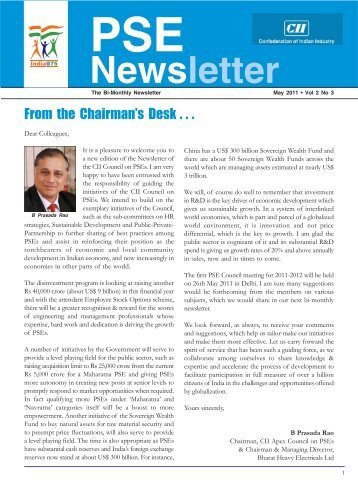 PSE Bi-monthly Newsletter - May, 2011, Vol 2, No. - CII