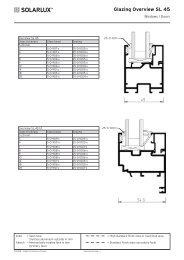 Glazing Overview SL 45 - Lito Byg A/S
