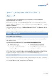 What's New in Casewise Suite 2011.4?