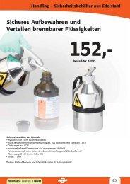 Handling – Sicherheitsbehälter aus Edelstahl - LAMBATEC GmbH