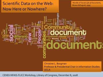 Digital Libraries of Scientific Data - cendi
