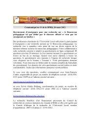 Communiqué no 11 de la SPHQ - Société des professeurs d'histoire ...