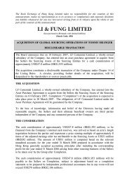 Acquisition of Global Sourcing Operations of Tommy ... - Li & Fung