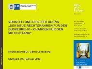 Dr. Gerrit Landsberg - Vorstellung des Leitfadens